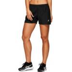 ASICS Womens SILVER 4-inch Running Short - PERFORMANCE BLACK ASICS Womens SILVER 4-inch Running Short - PERFORMANCE BLACK