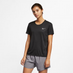 Nike Women's Miler Running Top - Black/Reflective Silver Nike Women's Miler Running Top - Black/Reflective Silver