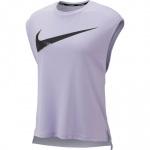 Nike Women's DRI-FIT REBEL GX Running Top - Lavender Mist/Black Nike Women's DRI-FIT REBEL GX Running Top - Lavender Mist/Black
