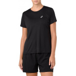 ASICS Womens SILVER Running Top - PERFORMANCE BLACK ASICS Womens SILVER Running Top - PERFORMANCE BLACK