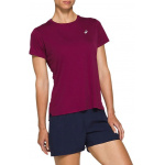 ASICS Womens SILVER Running Top - DRIED BERRY ASICS Womens SILVER Running Top - DRIED BERRY