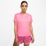 Nike Womens Miler Running Top - PINK GLOW Nike Womens Miler Running Top - PINK GLOW