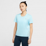 Nike Womens Miler Running Top - Ice Blue/Silver Nike Womens Miler Running Top - Ice Blue/Silver
