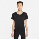 Nike Womens Dri-Fit One Top - BLACK/WHITE Nike Womens Dri-Fit One Top - BLACK/WHITE