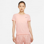Nike Womens Dri-Fit Run Division Running Top - PALE CORAL/BLACK/REFLECTIVE SILVER Nike Womens Dri-Fit Run Division Running Top - PALE CORAL/BLACK/REFLECTIVE SILVER