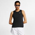 Nike Womens MILER Running Tank - BLACK/REFLECTIVE SILVER Nike Womens MILER Running Tank - BLACK/REFLECTIVE SILVER