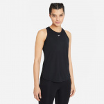 Nike Womens Dri-Fit One Tank - BLACK/WHITE Nike Womens Dri-Fit One Tank - BLACK/WHITE