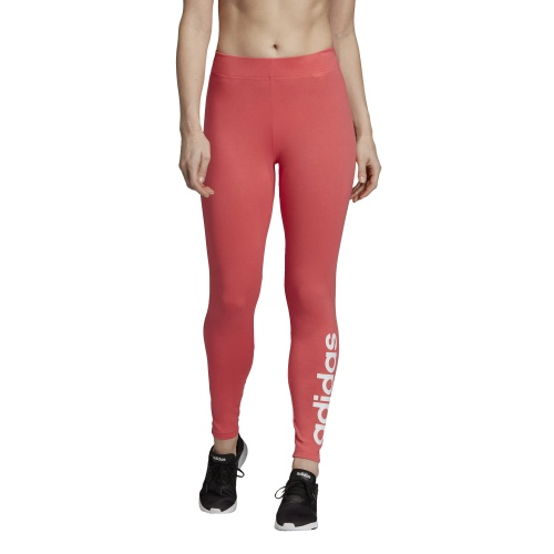 3f54b09a42861 Adidas Women's Essentials Linear Tight - prism pink/white | Sportsmart |  Melbourne's largest sports warehouses