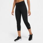Nike Womens ONE Mid-Rise Capri Leggings - BLACK Nike Womens ONE Mid-Rise Capri Leggings - BLACK