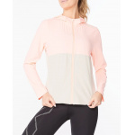 2XU Womens Aero Running Jacket - Pop Coral/Oatmeal Reflective 2XU Womens Aero Running Jacket - Pop Coral/Oatmeal Reflective