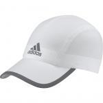Adidas Run Climalite Cap- White/White/Reflective Silver Adidas Run Climalite Cap- White/White/Reflective Silver