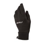 2XU Run Glove - Black/Silver 2XU Run Glove - Black/Silver