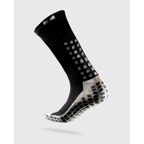 TRUSOX Mid Calf Soccer Sock - BLACK