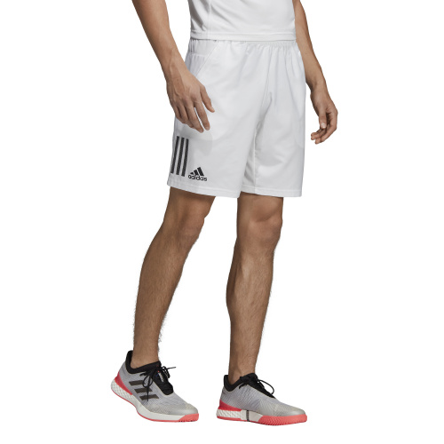 Adidas Men's Club 3 Stripes 9 inch Tennis Short WhiteBlack