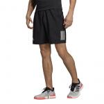Adidas Mens Club 3 Stripes 9-inch Tennis Short - Black/White Adidas Mens Club 3 Stripes 9-inch Tennis Short - Black/White