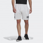 Adidas Mens Club Tennis 3-Stripes Shorts - White/Black Adidas Mens Club Tennis 3-Stripes Shorts - White/Black