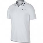 Nike Men's Court Dri-FIT Polo - WHITE/BLACK Nike Men's Court Dri-FIT Polo - WHITE/BLACK