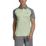 Adidas Mens Club Color-Block Tennis Polo - Glow Green/GREY THREE Adidas Mens Club Color-Block Tennis Polo - Glow Green/GREY THREE