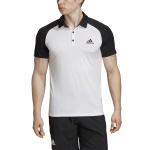 Adidas Men's Club Tennis Polo Shirt - WHITE/BLACK Adidas Men's Club Tennis Polo Shirt - WHITE/BLACK