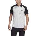 Adidas Men's Club Tennis Polo - WHITE/BLACK Adidas Men's Club Tennis Polo - WHITE/BLACK