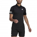 Adidas Mens Tennis Club 3-Stripes Polo Shirt - BLACK/WHITE Adidas Mens Tennis Club 3-Stripes Polo Shirt - BLACK/WHITE