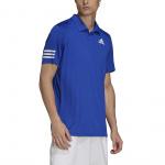 Adidas Mens Club 3-Stripe Tennis Polo Shirt - Bold Blue/White Adidas Mens Club 3-Stripe Tennis Polo Shirt - Bold Blue/White