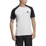 Adidas Men's Club Tennis Tee - WHITE/BLACK Adidas Men's Club Tennis Tee - WHITE/BLACK