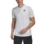 Adidas Mens Club Tennis 3-Stripes Tee - WHITE/BLACK Adidas Mens Club Tennis 3-Stripes Tee - WHITE/BLACK