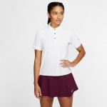Nike Women's Court Tennis Polo - WHITE/BLACK Nike Women's Court Tennis Polo - WHITE/BLACK