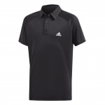 Adidas Boys Club Tennis Polo - Black/White/Black Adidas Boys Club Tennis Polo - Black/White/Black