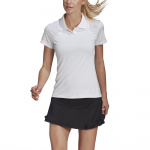 Adidas Womens Club Tennis Polo Shirt - Whte/Grey Adidas Womens Club Tennis Polo Shirt - Whte/Grey