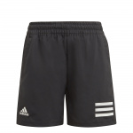 Adida Boys Club Tennis 3-Stripes Shorts - Black/White Adida Boys Club Tennis 3-Stripes Shorts - Black/White