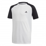Adias Boys Club Tennis Tee - White/Black/Black Adias Boys Club Tennis Tee - White/Black/Black