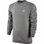 Nike Men's Sportswear Crew - DK GREY HEATHER Nike Men's Sportswear Crew - DK GREY HEATHER