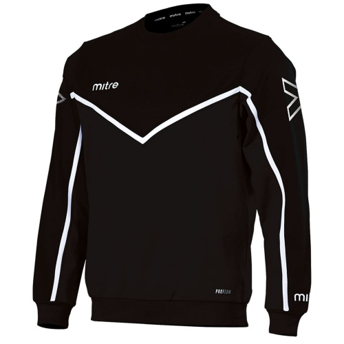 MITRE MEN'S PRIMERO SWEAT TOP - BLACK/WHITE @ Sportsmart | Tuggl