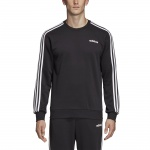Adidas Men's Essentials 3 Stripes Crewneck French Terry - black/white Adidas Men's Essentials 3 Stripes Crewneck French Terry - black/white