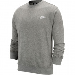 Nike Men's Sportswear Club Crew - DK GREY HEATHER/WHITE Nike Men's Sportswear Club Crew - DK GREY HEATHER/WHITE