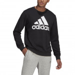 Adidas Mens Essentials Big Logo Sweatshirt - Black/White Adidas Mens Essentials Big Logo Sweatshirt - Black/White