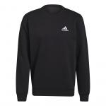 Adidas Mens Feelcozy Fleece Sweatshirt - Black/White Adidas Mens Feelcozy Fleece Sweatshirt - Black/White