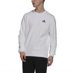Adidas Mens Feelcozy Fleece Sweatshirt - WHITE/BLACK Adidas Mens Feelcozy Fleece Sweatshirt - WHITE/BLACK