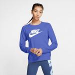 Nike Womens Sportswear Essential Fleece Crew - SAPPHIRE/WHITE Nike Womens Sportswear Essential Fleece Crew - SAPPHIRE/WHITE