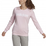 Adidas Womens Essentials Logo Sweatshirt - Clear Pink/White Adidas Womens Essentials Logo Sweatshirt - Clear Pink/White