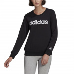 Adidas Womens Essentials Logo Sweatshirt - BLACK/WHITE Adidas Womens Essentials Logo Sweatshirt - BLACK/WHITE