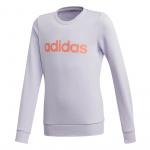 Adidas Girls Linear Sweatshirt - Purple Tint Adidas Girls Linear Sweatshirt - Purple Tint