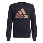Adidas Girls Essentials Big Logo Sweatshirt - Legend Ink/Ambient Blush Adidas Girls Essentials Big Logo Sweatshirt - Legend Ink/Ambient Blush