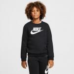 Nike Boys Sportswear Club Fleece Crew - BLACK Nike Boys Sportswear Club Fleece Crew - BLACK