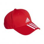 Adidas Baseball 3-Stripes Twill Cap - Vivid Red/White/White Adidas Baseball 3-Stripes Twill Cap - Vivid Red/White/White