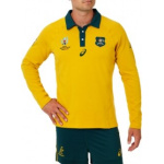 Asics Wallabies Rugby World Cup Traditional Long Sleeved Jersey Asics Wallabies Rugby World Cup Traditional Long Sleeved Jersey