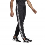 Adidas Men's Essentials 3 Stripes Tapered Pant - Black/White Adidas Men's Essentials 3 Stripes Tapered Pant - Black/White