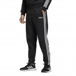 Adidas Men's Essentials 3-Stripes Tapered Pant - BLACK/WHITE Adidas Men's Essentials 3-Stripes Tapered Pant - BLACK/WHITE